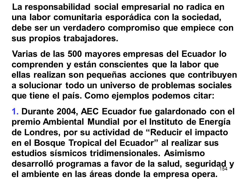 La responsabilidad social empresarial no radica en una labor comunitaria esporádica con la sociedad, debe ser un verdadero compromiso que empiece con sus propios trabajadores.