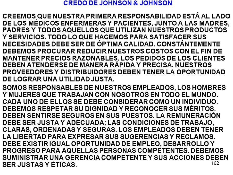 CREDO DE JOHNSON & JOHNSON