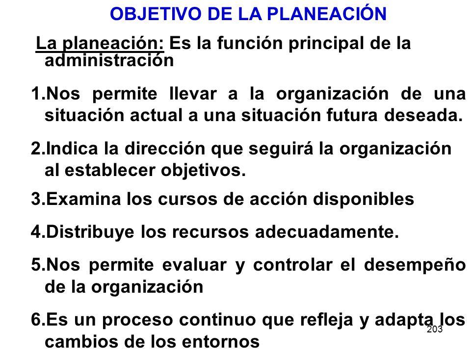OBJETIVO DE LA PLANEACIÓN