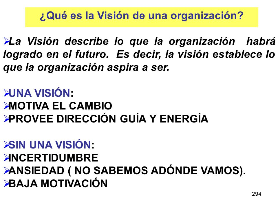¿Qué es la Visión de una organización