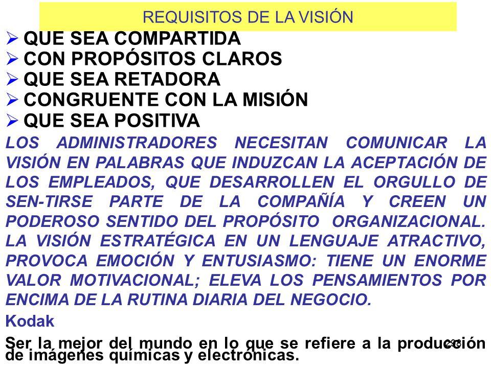 REQUISITOS DE LA VISIÓN
