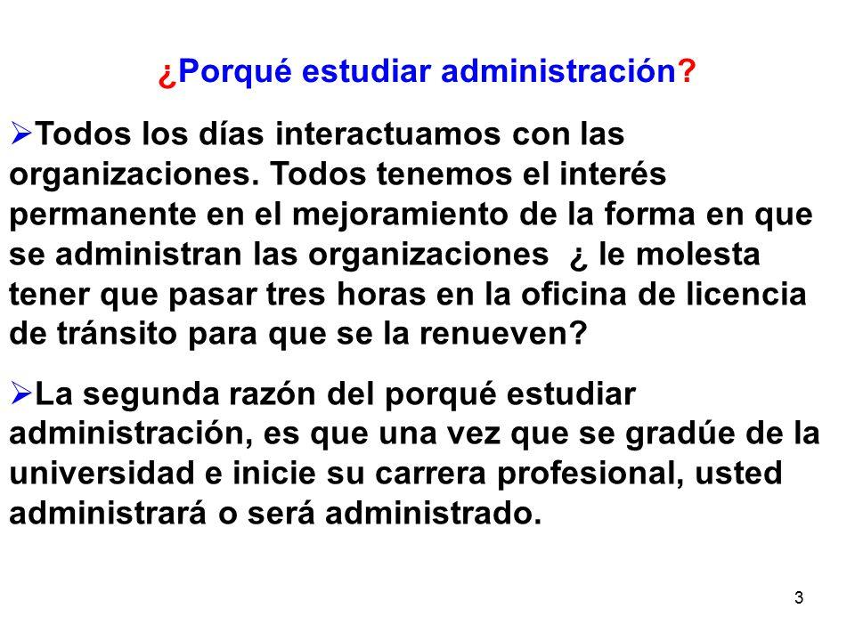 ¿Porqué estudiar administración