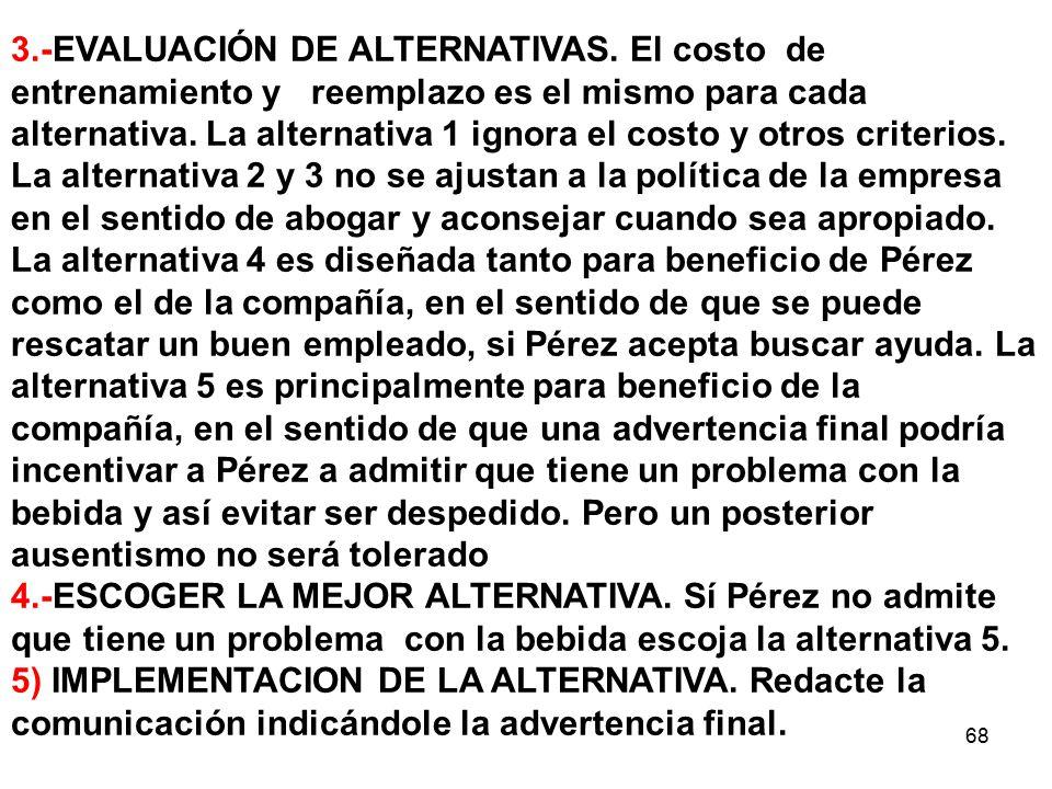 3. -EVALUACIÓN DE ALTERNATIVAS