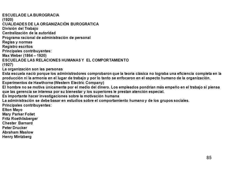 85 ESCUELA DE LA BUROGRACIA (1920)