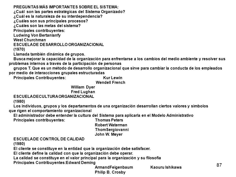 87 PREGUNTAS MÁS IMPORTANTES SOBRE EL SISTEMA: