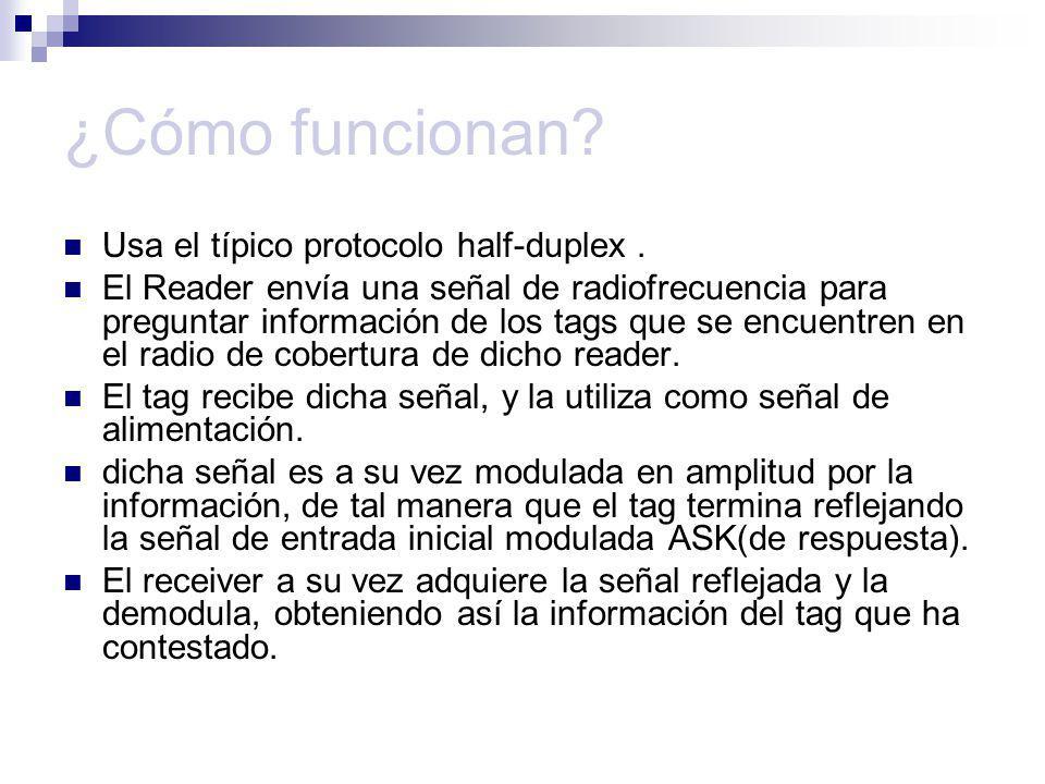 ¿Cómo funcionan Usa el típico protocolo half-duplex .