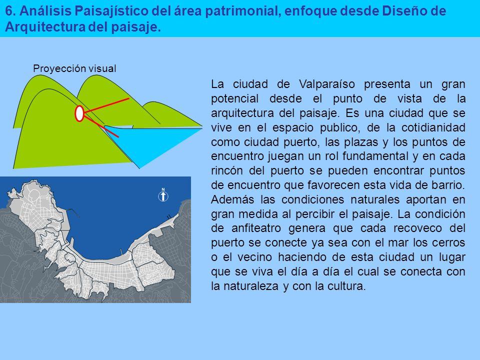6. Análisis Paisajístico del área patrimonial, enfoque desde Diseño de Arquitectura del paisaje.
