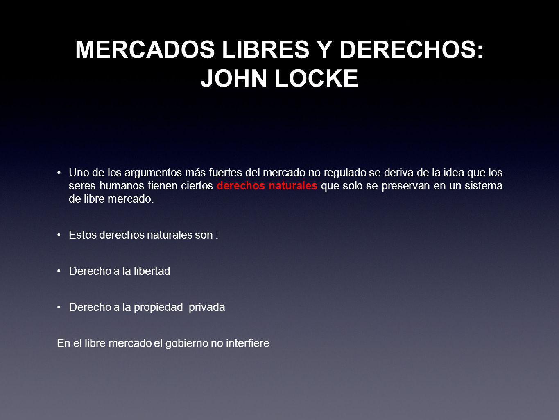 MERCADOS LIBRES Y DERECHOS: JOHN LOCKE