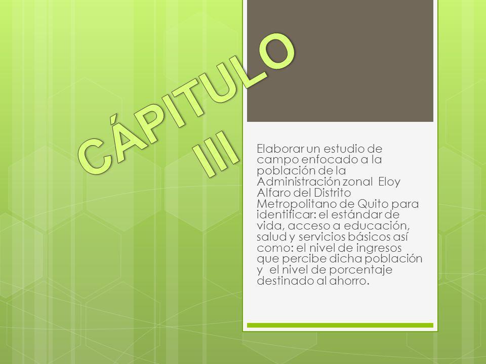 CÁPITULO III
