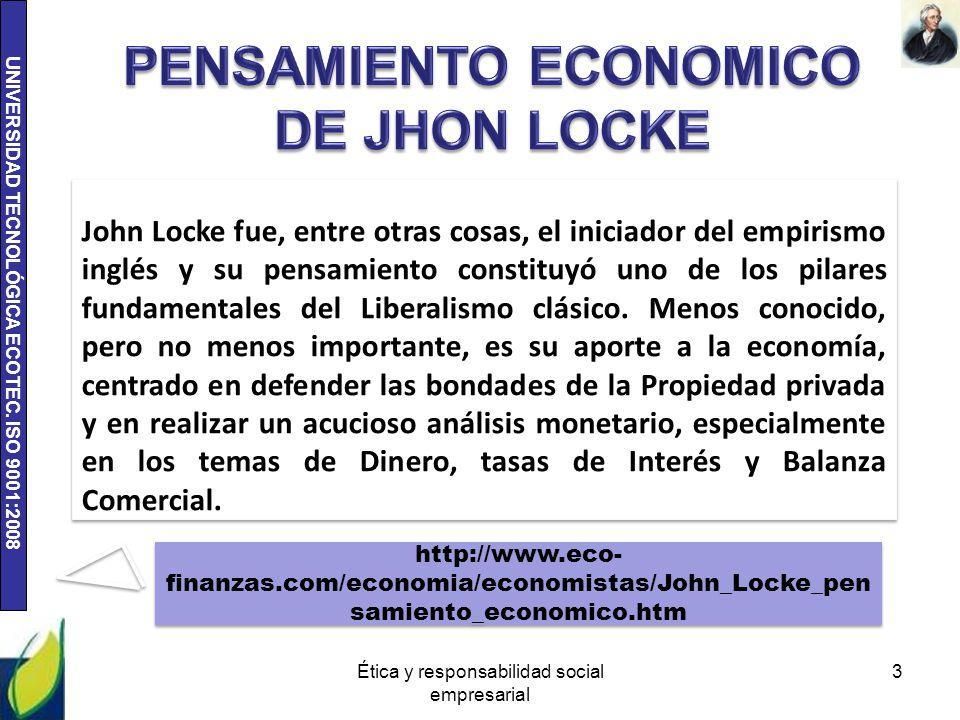 PENSAMIENTO ECONOMICO DE JHON LOCKE