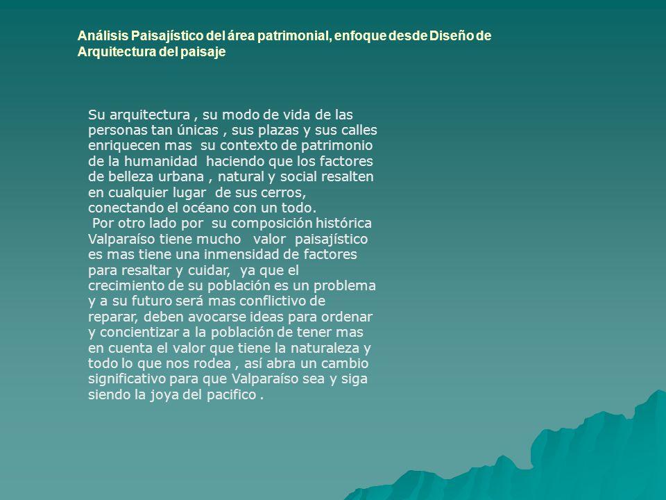 Análisis Paisajístico del área patrimonial, enfoque desde Diseño de Arquitectura del paisaje