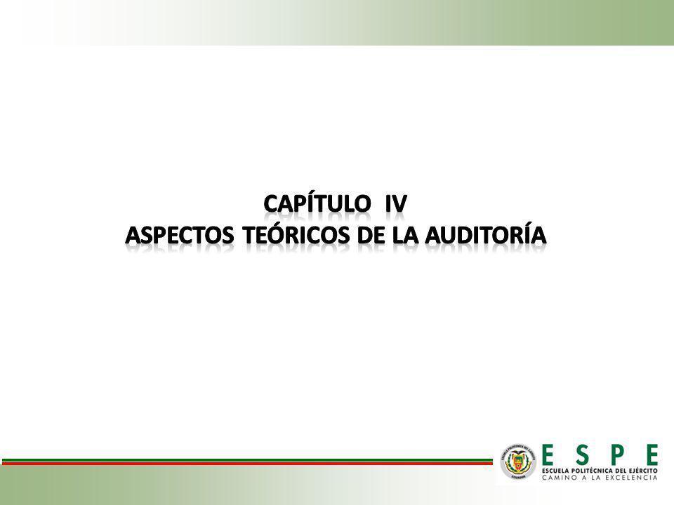 Aspectos teóricos de la auditoría