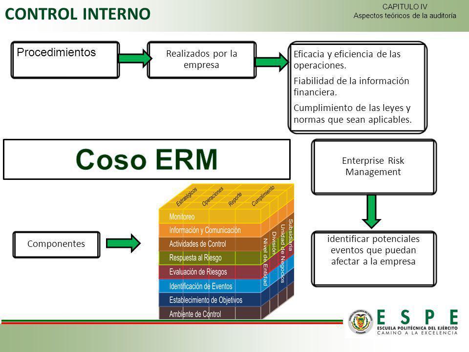 Coso ERM CONTROL INTERNO Procedimientos Realizados por la empresa