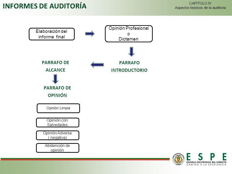 INFORMES DE AUDITORÍA PARRAFO DE PARRAFO ALCANCE INTRODUCTORIO