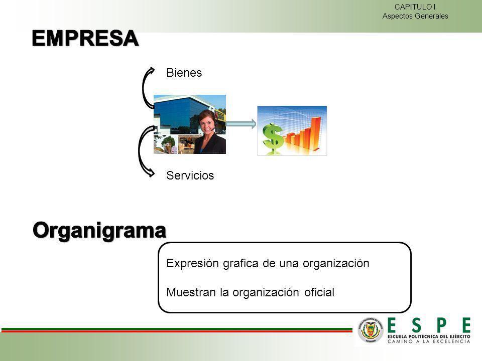 EMPRESA Organigrama Bienes Servicios