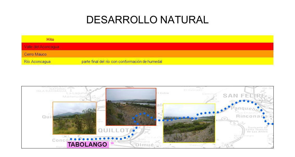 DESARROLLO NATURAL TABOLANGO Hito Valle del Aconcagua Cerro Mauco