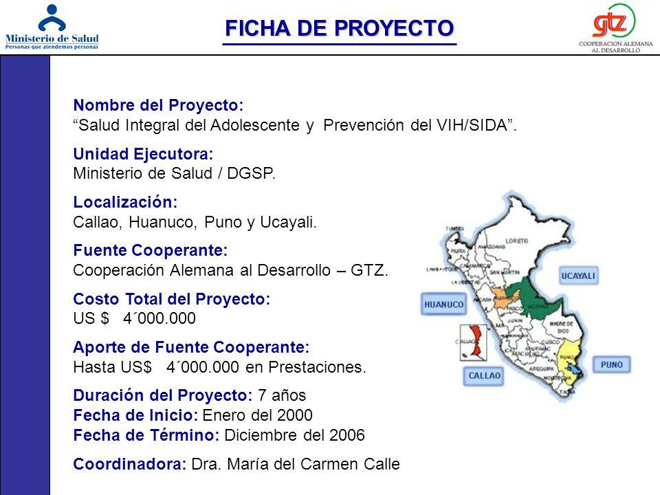 FICHA DE PROYECTO Nombre del Proyecto: