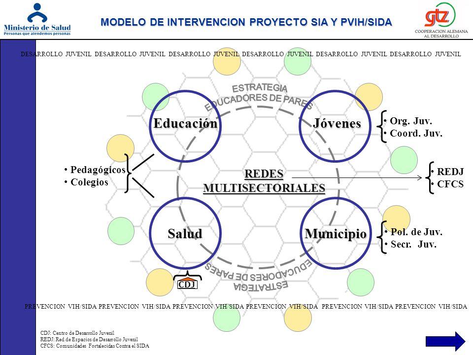 MODELO DE INTERVENCION PROYECTO SIA Y PVIH/SIDA