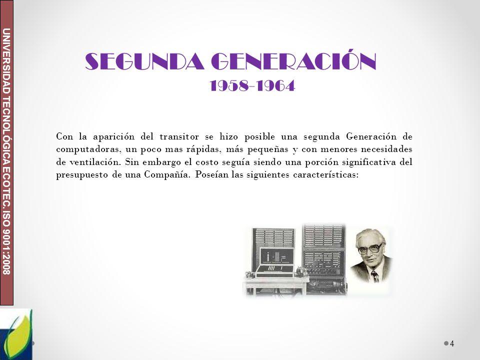 SEGUNDA GENERACIÓN 1958-1964.