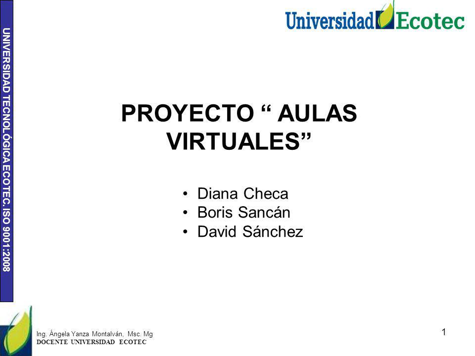 PROYECTO AULAS VIRTUALES
