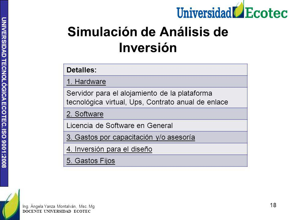 Simulación de Análisis de Inversión