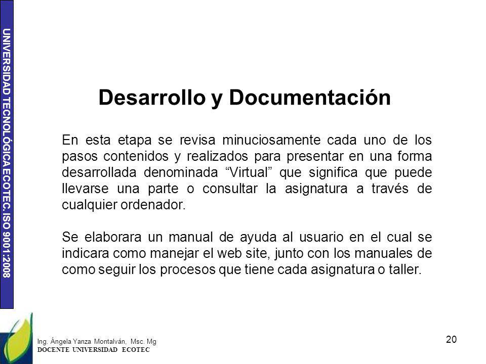 Desarrollo y Documentación