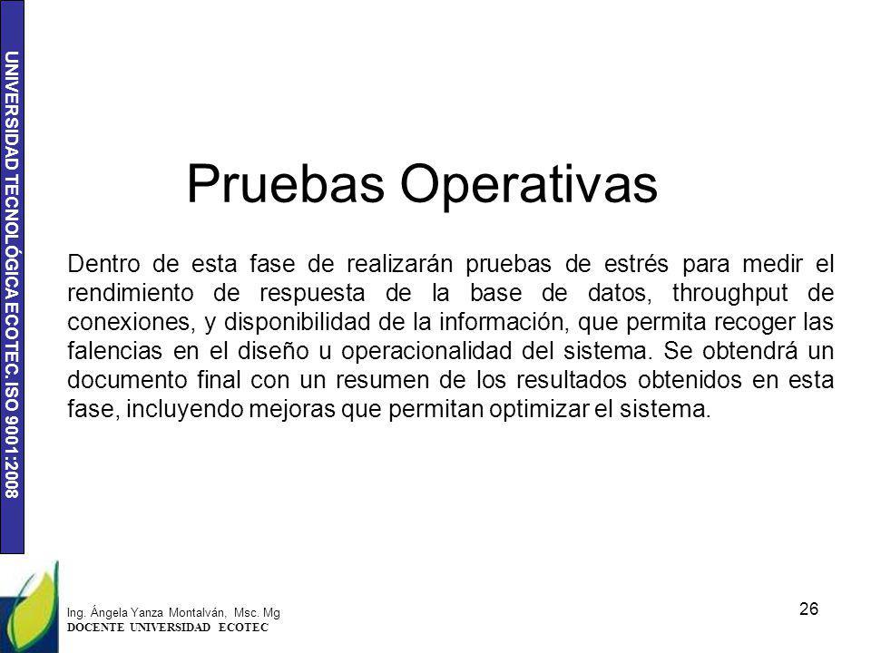 Pruebas Operativas