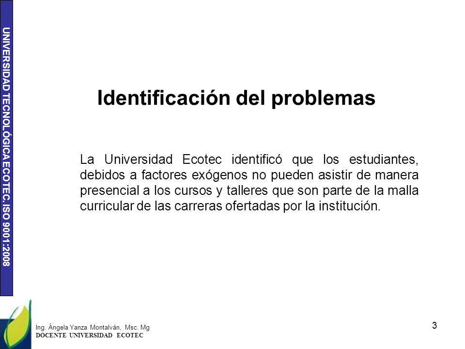 Identificación del problemas