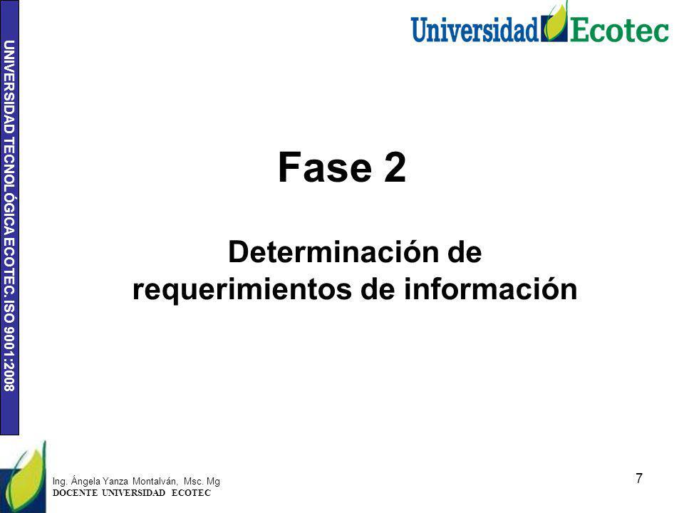 Determinación de requerimientos de información