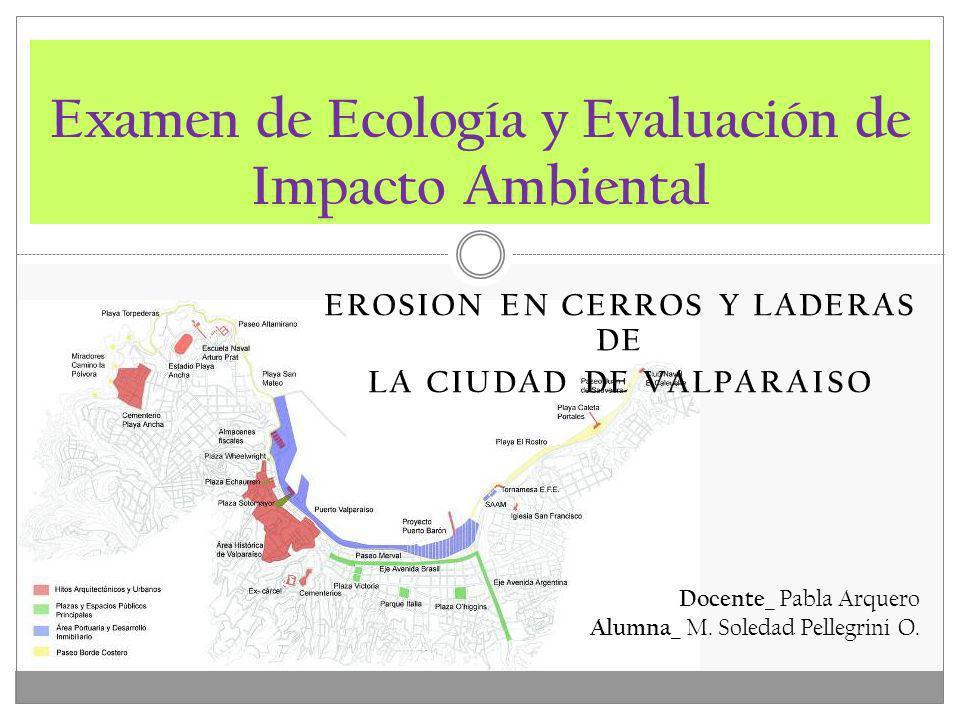 Examen de Ecología y Evaluación de Impacto Ambiental