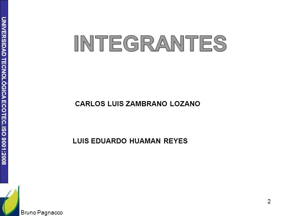 INTEGRANTES CARLOS LUIS ZAMBRANO LOZANO LUIS EDUARDO HUAMAN REYES