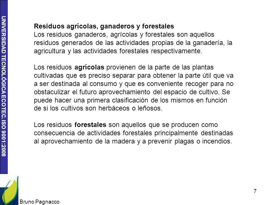 Residuos agrícolas, ganaderos y forestales