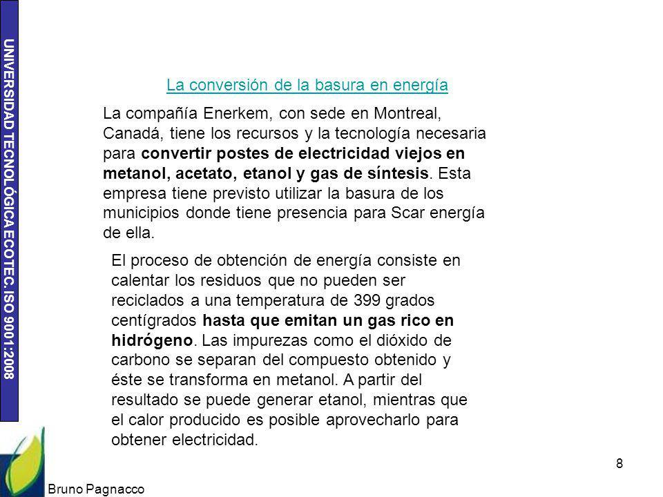 La conversión de la basura en energía