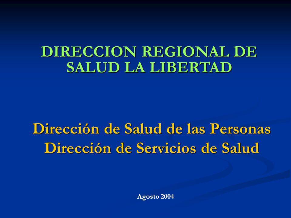 Dirección de Salud de las Personas Dirección de Servicios de Salud