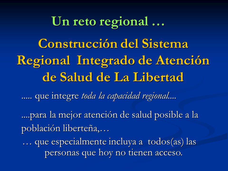 Un reto regional … Construcción del Sistema Regional Integrado de Atención de Salud de La Libertad.