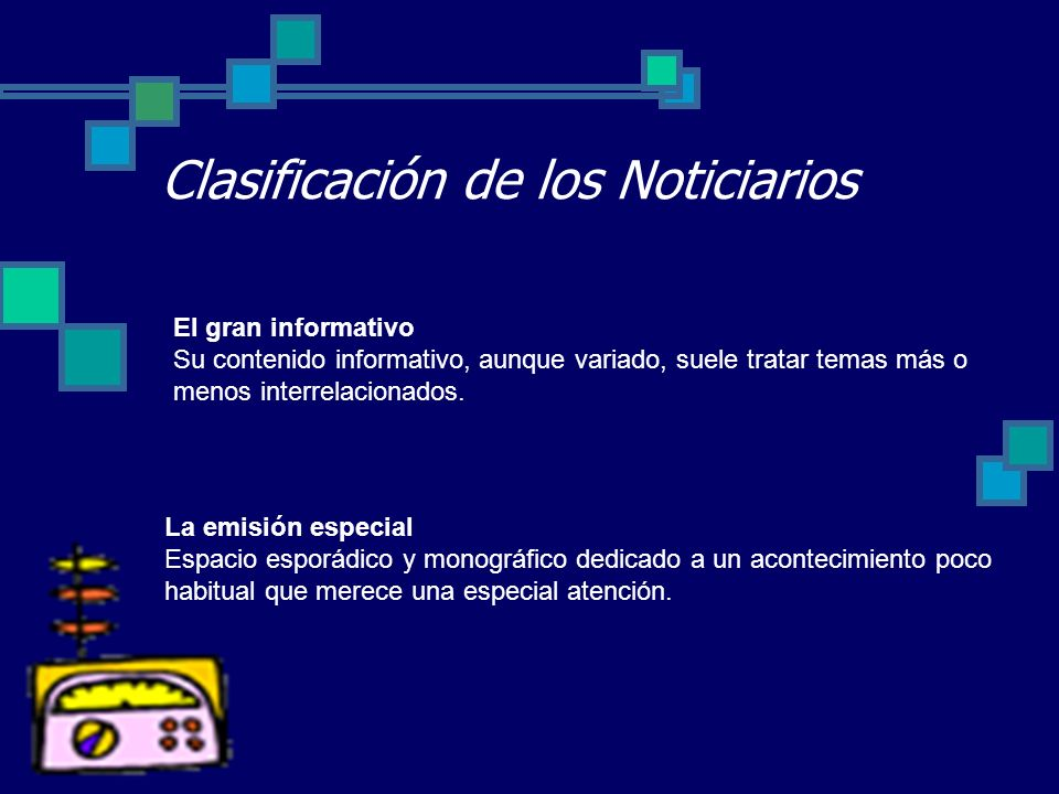 Clasificación de los Noticiarios