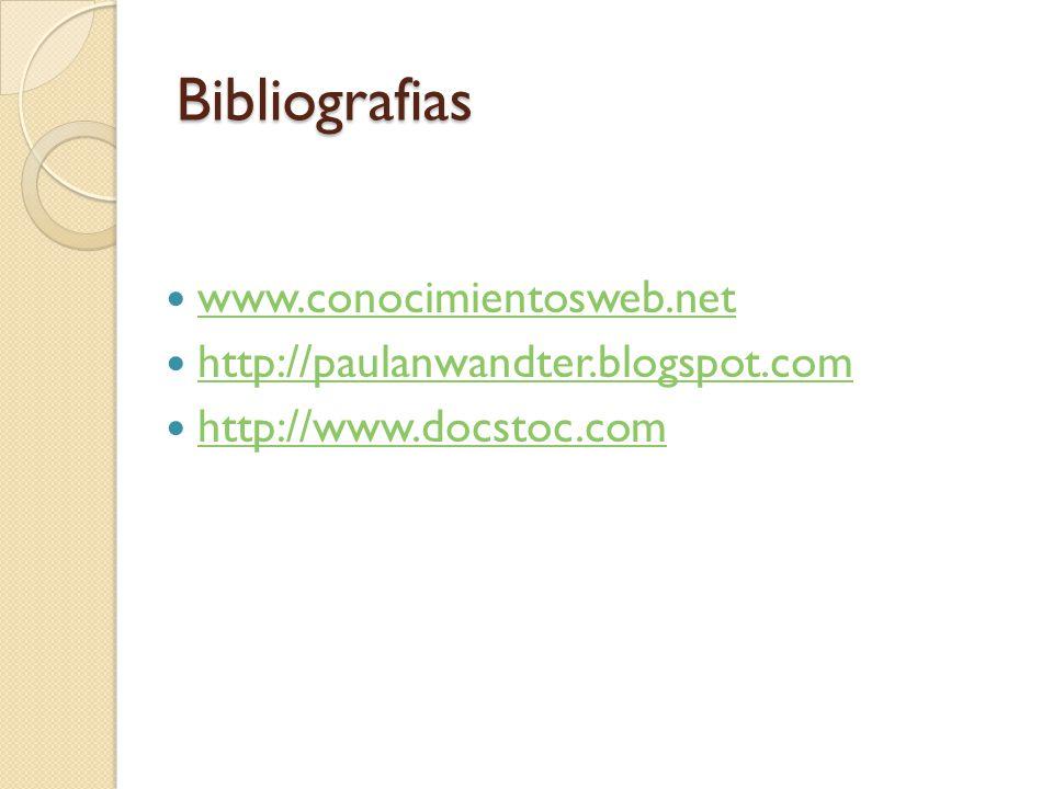 Bibliografias www.conocimientosweb.net