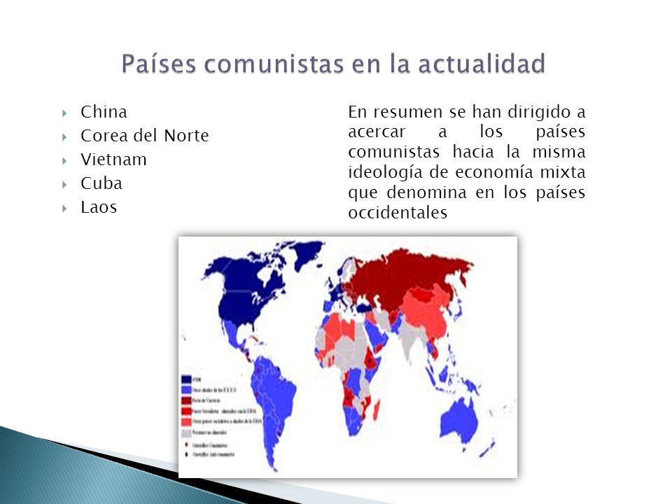 Países comunistas en la actualidad