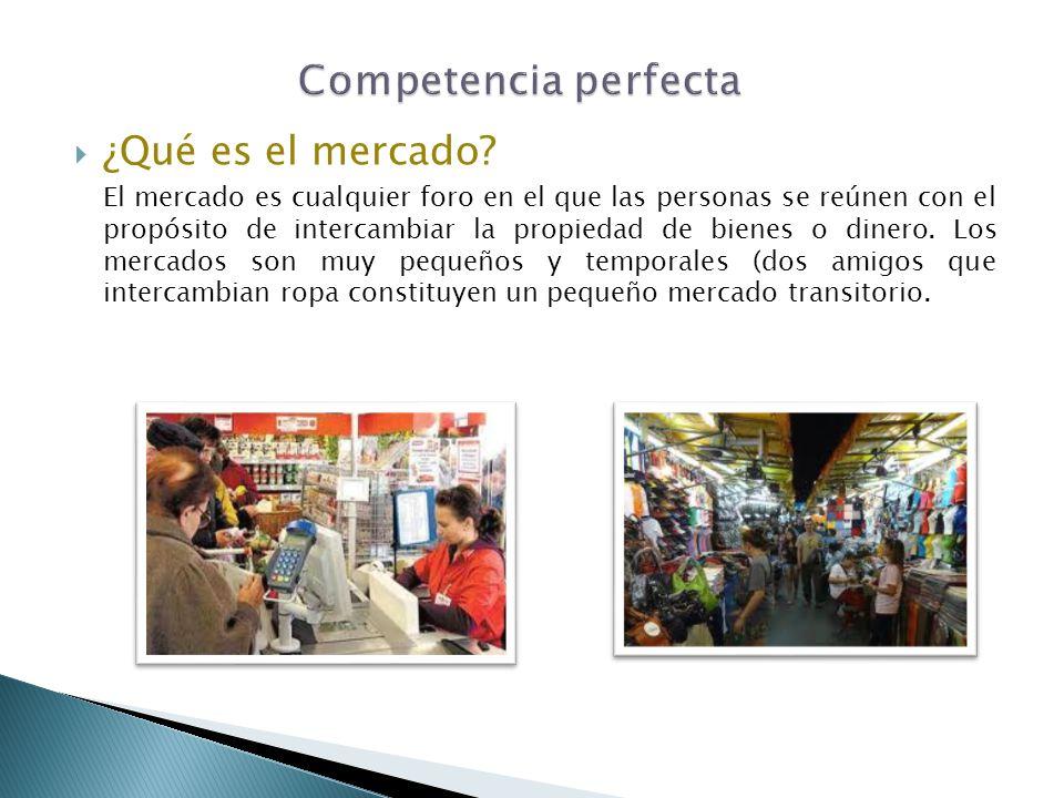 Competencia perfecta ¿Qué es el mercado