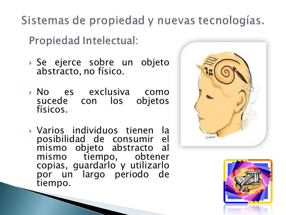 Sistemas de propiedad y nuevas tecnologías.