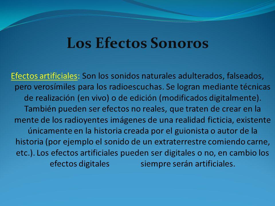 Los Efectos Sonoros