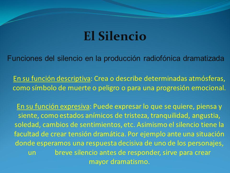Funciones del silencio en la producción radiofónica dramatizada