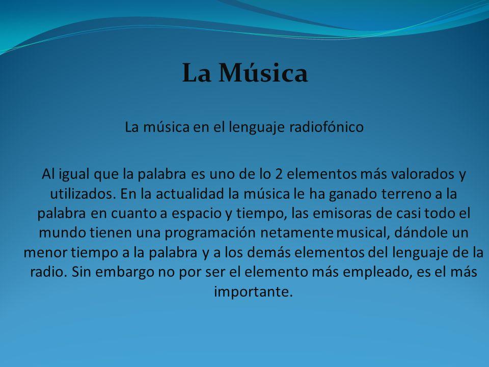 La música en el lenguaje radiofónico