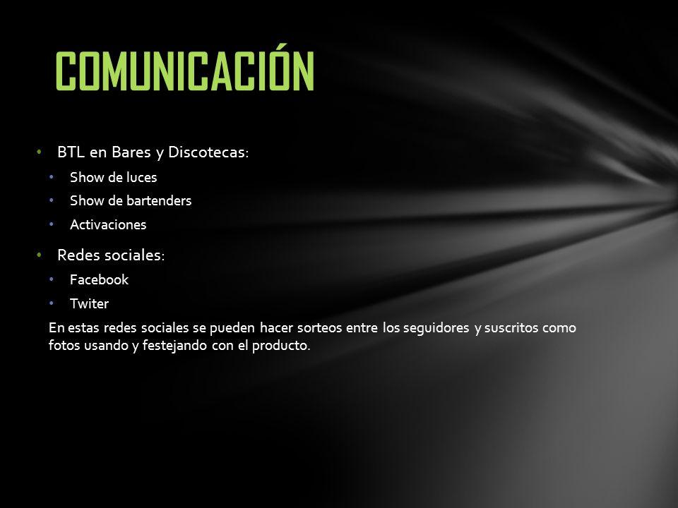 COMUNICACIÓN BTL en Bares y Discotecas: Redes sociales: Show de luces