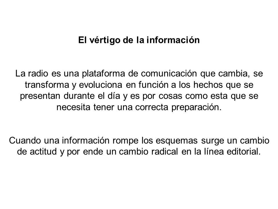 El vértigo de la información