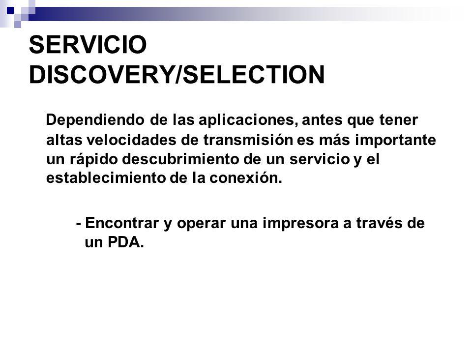 SERVICIO DISCOVERY/SELECTION