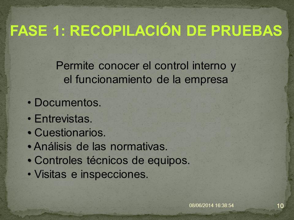 FASE 1: RECOPILACIÓN DE PRUEBAS
