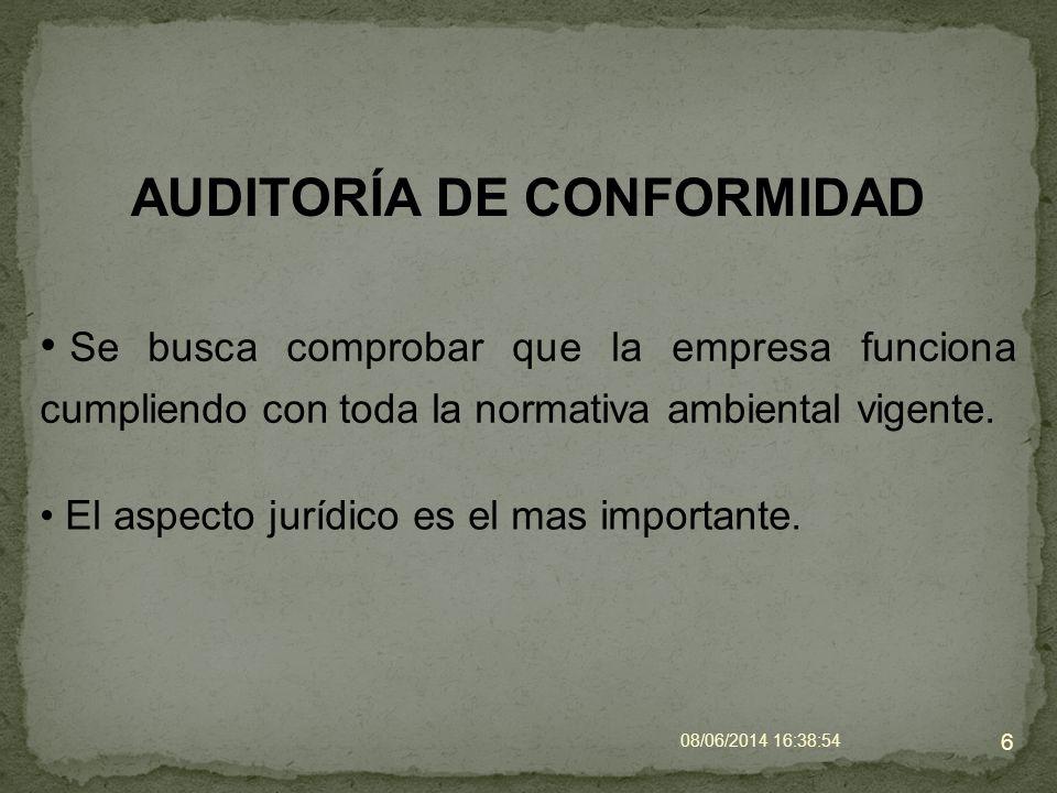 AUDITORÍA DE CONFORMIDAD