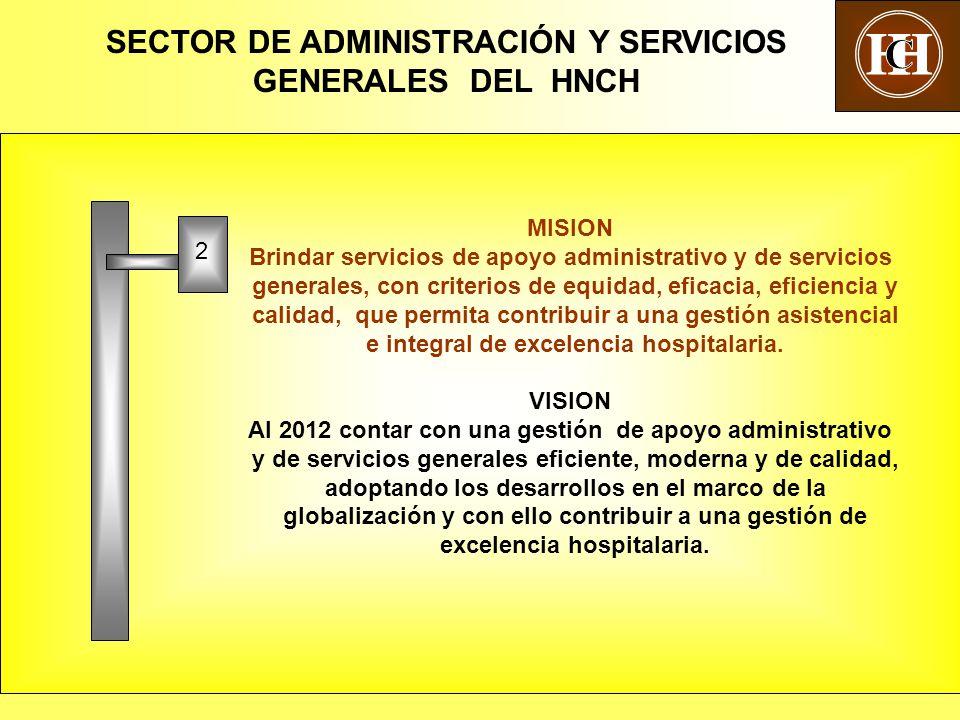 SECTOR DE ADMINISTRACIÓN Y SERVICIOS GENERALES DEL HNCH