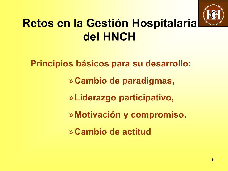 Retos en la Gestión Hospitalaria del HNCH